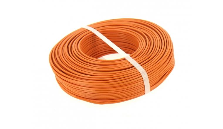 Fil Electrique H07V-U Orange 1.5 mm² - Bobine de 100 m - Ref 8324488S - Miguelez