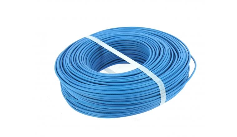 Fil Electrique H07V-U Bleu 1.5 mm² - Bobine 100 m - Ref 8324482S - Miguelez