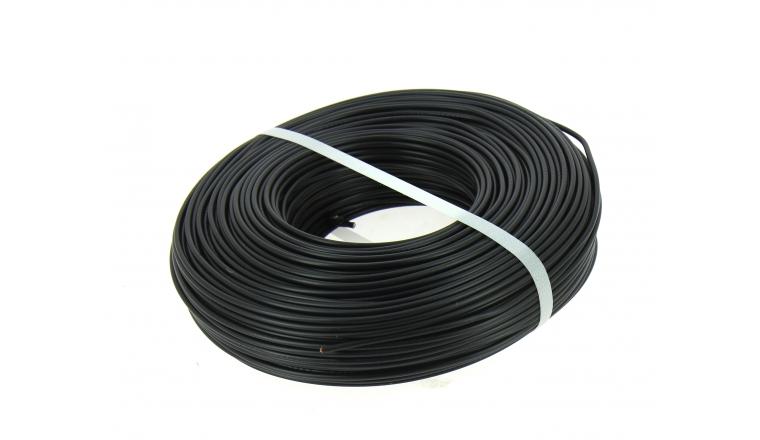 fil electrique h07v u noir 1 5 mm bobine de 100 m ref 8324492s miguelez. Black Bedroom Furniture Sets. Home Design Ideas