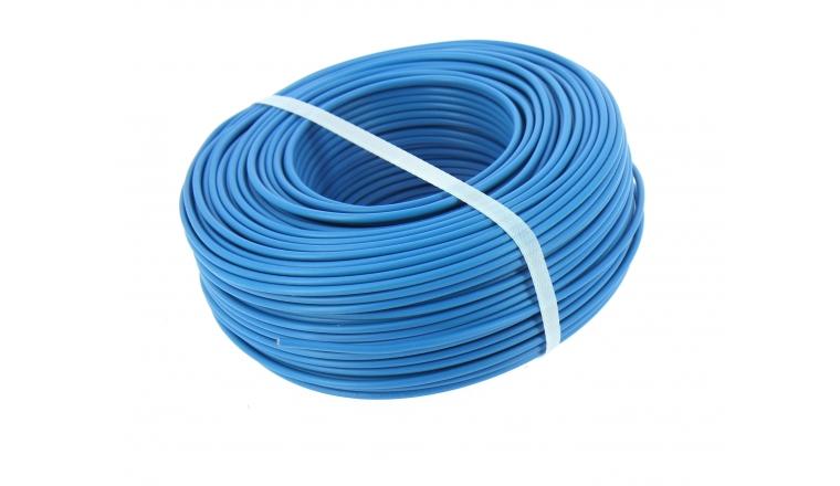 Fil Electrique H07V-U Bleu 2.5 mm² - Bobine de 100 m - Ref 8324582S - Miguelez