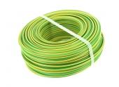 Fil Electrique H07V-U Jaune et Vert 2.5 mm² - Bobine de 100 m - Ref 8324586S - Miguelez