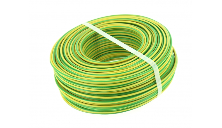 fil electrique h07v u jaune et vert 2 5 mm bobine de. Black Bedroom Furniture Sets. Home Design Ideas
