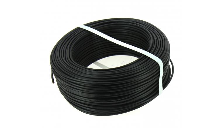fil electrique h07v u noir 2 5 mm bobine de 100 m ref 7314g17ngp g n ral cable. Black Bedroom Furniture Sets. Home Design Ideas