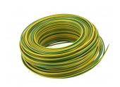 Fil Electrique H07V-U Jaune et Vert 1.5 mm² - Bobine de 100 m - Ref 8324486S - Miguelez