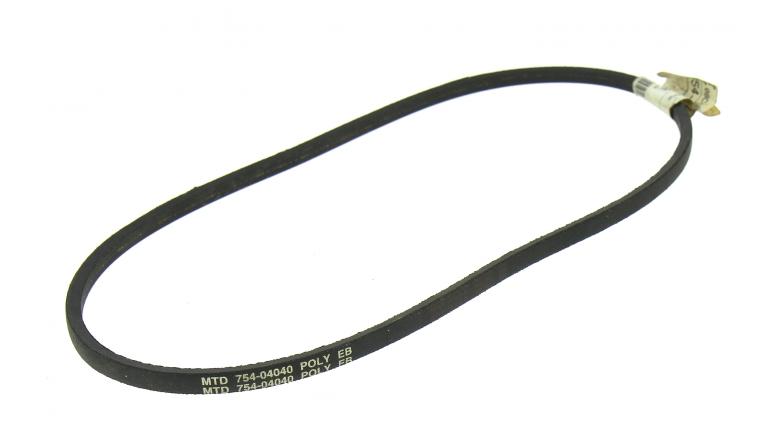 Courroie Trapezoïdale pour Tondeuse Thermique Tractée 10 x 5 mm - Ref 754-04040 - MTD