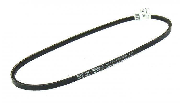 Courroie Trapezoïdale pour Tondeuse Thermique Tractée 10 x 6 mm - Ref 754-0637A - MTD