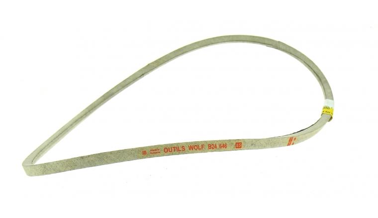 Courroie de Traction Trapezoïdale pour Tondeuse Thermique Tractée 12 x 10 mm - Ref 24646 - Outils Wolf