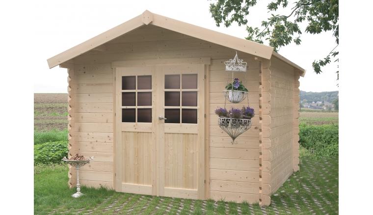 abri de jardin en bois trait ou non 28 mm 4 60 m solid. Black Bedroom Furniture Sets. Home Design Ideas