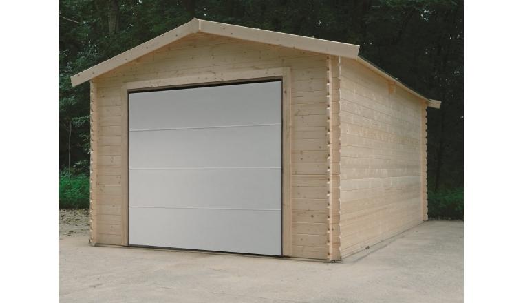 Garage en Bois Solid 16.20 m² avec Porte Sectionnelle S8330