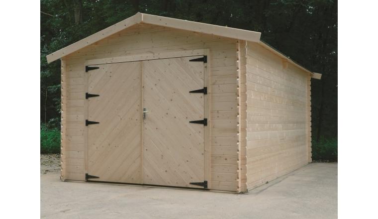 Garage en Bois Solid 16.20 m² avec porte battante S8331