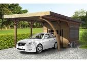 Carport en Bois Autoclave EPINAL 1 Véhicule Solid 7 m² S7754