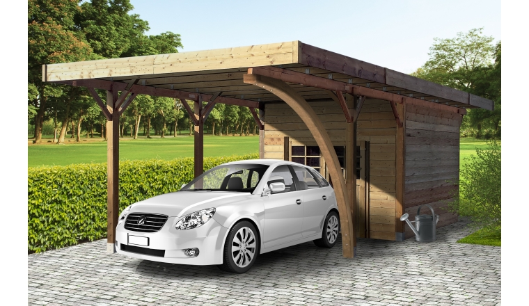 carport en bois epinal autoclave 7 m solid s7754. Black Bedroom Furniture Sets. Home Design Ideas