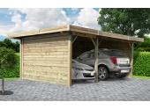 Carport en bois Autoclave VITTEL 2 véhicules Solid - S7757