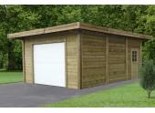 Garage en bois autoclave SAINT DIE 1 véhicule Solid 21 m² Solid - S7756