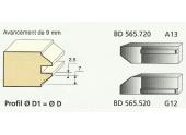 Jeu de 2 Couteaux Profilés Profil Chanfrein - Ref BD565520 - Le Ravageur