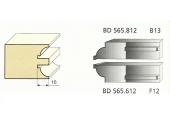 Jeu de 2 Couteaux Profilés Quart de rond - 8 mm - Ref BD565612 - Le Ravageur