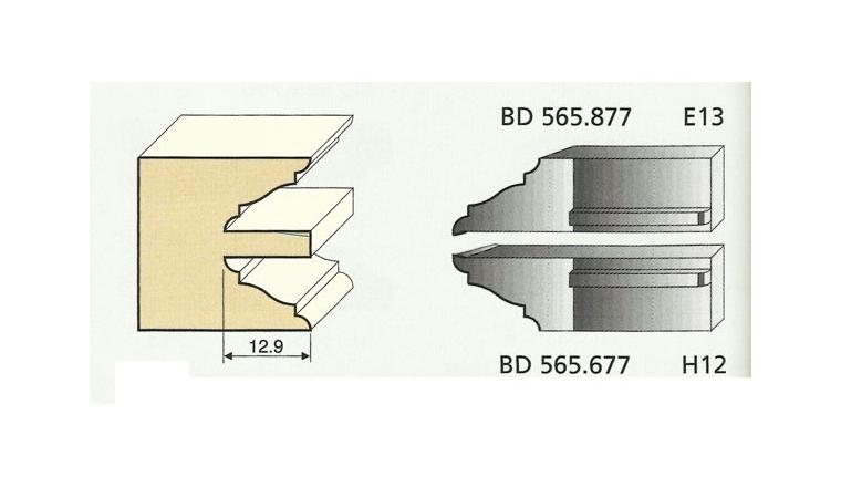 Jeu de 2 Couteaux Profilés Doucine Romane - Ref BD565877 - Le Ravageur