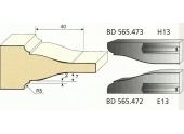 Jeu de 2 Couteaux Profilés Doucine Rustique à Congé - Ref BD565472 - Le Ravageur
