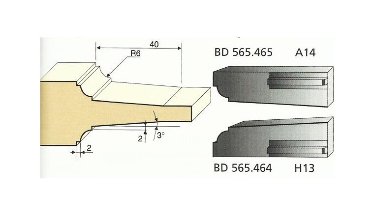 Jeu de 2 Couteaux Congé et double Carré à pente - Ref BD565465 - Le Ravageur