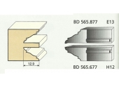 Jeu de 2 Couteaux Profilés Doucine Romane - Ref BD565677 - Le Ravageur