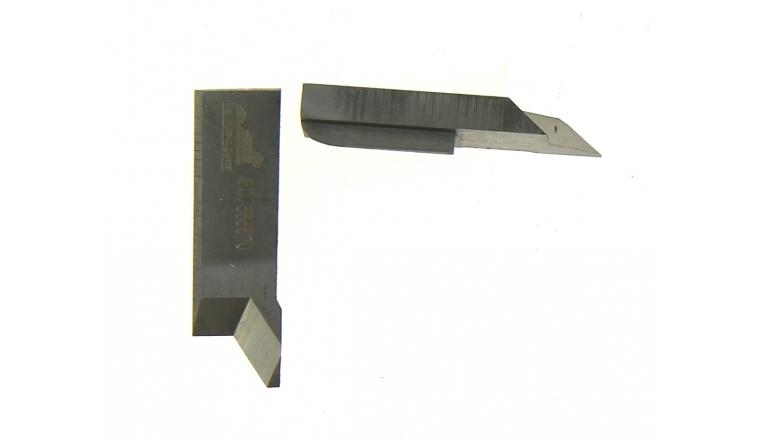 Jeu de 2 couteaux profilés BD565620 pour chanfrein 7 mm