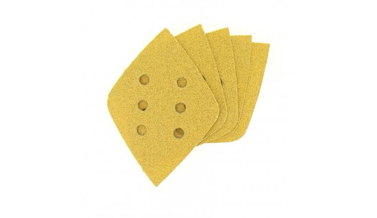 Lot de 5 Patins abrasifs losange - Grain 220 - Ref 6062 - Dremel