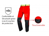 Pantalon de Bûcheron Prior Move S à 2XL Anti-Coupure Type A Classe 1 - Francital
