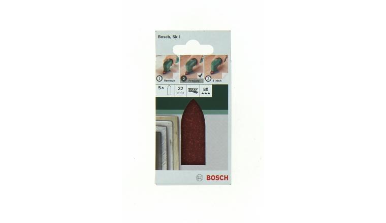 Lot de 5 Patins abrasifs 32 mm pour ponceuse Delta - Bosch