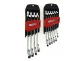 Jeu de 10 Clés mixte à Cliquet 8 à 19 mm en Chrome - Ref 503.4620 - KS Tools