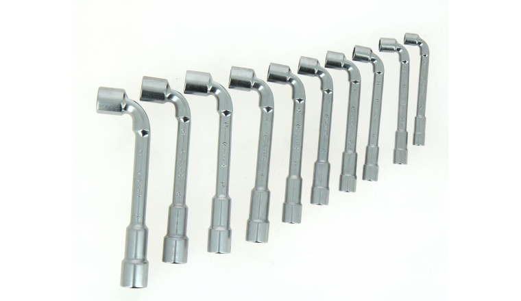 Jeu de 10 clés à Pipe 8 à 19 mm en Chrome - Ref 517.0440 - KS Tools