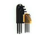 Assortiment de 9 clés mâle 6 pans - 1.5 à 10 mm - Ref 114010 - Ironside