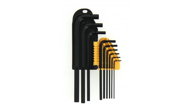 Assortiment de 9 clés mâle 6 pans - 1.5 à 10 mm - Ref 114011 - Ironside