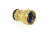 Nez de Robinet droit en Laiton pour Raccord Rapide Grand Débit Filetage 20x27 - Ref 2154805- Boutté