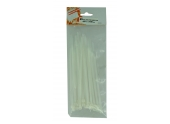 Lot de 25 Colliers Rilsan Transparent - Largeur 4.8 mm - Longueur 180 ou 300 mm - Debflex