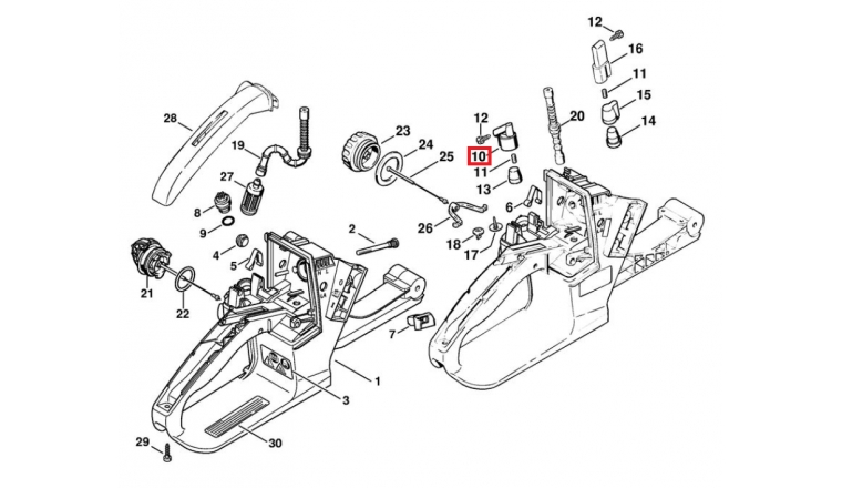 A rateur de r servoir tron onneuse 024 026 034 036 stihl - Pieces detachees stihl ...