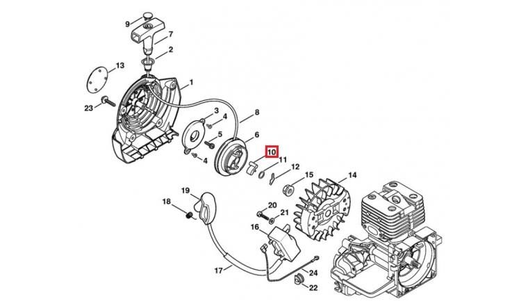 Cliquet de Lanceur pour BT 120, FS 260, FS 550... Stihl - Ref 0000-195-7200