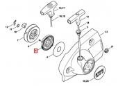 Ressort de rappel de lanceur pour Découpeuse Thermique TS 410, TS 420 ... Stihl - Ref 4224-190-0600