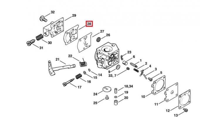 Joint de membrane de Carburateur pour 023, BG 75, FS 40, MS 230 ... Stihl - Ref 1120-129-0905