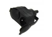 Fiche Electrique Femelle Double 2P+T Etanche IP 65 - 250 V- 16 A Noire - Debflex - Ref 713760