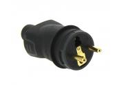 Fiche Electrique Mâle 2P+T - IP 44 - 230 V - 16 A Noire - Legrand - Ref 050114
