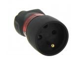 Fiche Electrique Femelle 2P+T - IP44 - 230 V - 16 A Noire - Legrand - Ref 050115