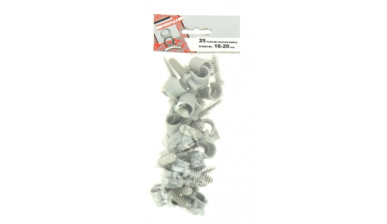Lot de 25 Clips de Fixation pour Gaine ICTA Ø 16 - 20 mm - Debflex 709902