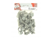 Lot de 25 Clips de Fixation pour Gaine ICTA Ø 20 - 25 mm - Debflex 709922