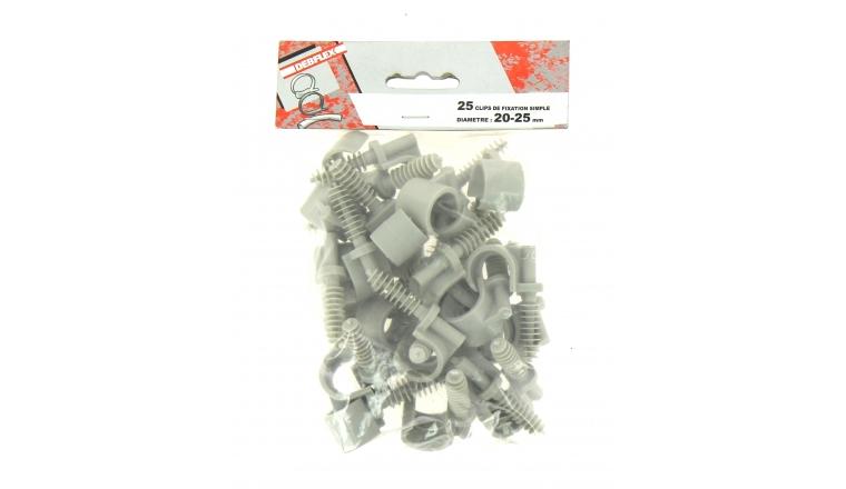 Lot de 25 Clips de Fixation pour Gaine ICTA Ø 20 - 25 mm - Debflex 709922