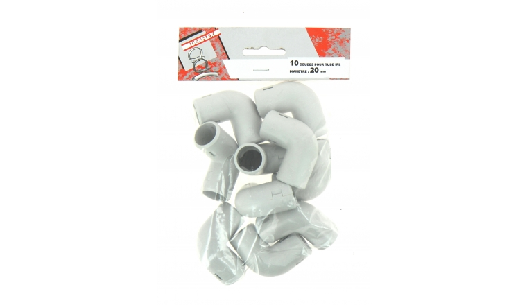 Lot de 10 Coudes 90 ° pour Tube IRL Ø 20 mm - Debflex 429256