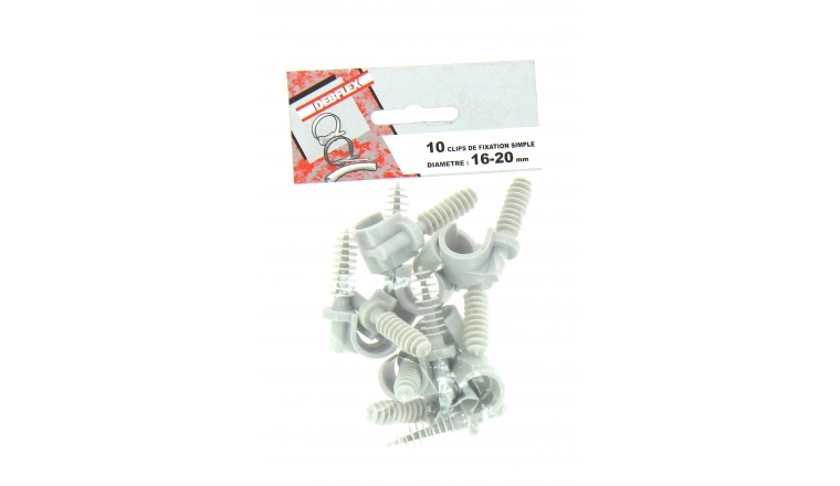Lot de 10 Clips de fixation pour Gaine ICTA Ø 16 - 20 mm - Debflex 709901