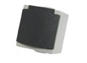 Prise 2P + T Etanche IP65 PERLE - Debflex 730120