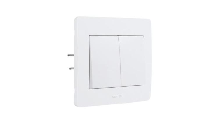 Interrupteur Va et Vient Double Complet DIAMANT2 - Debflex 739150