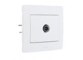 Prise TV Complet Blanc DIAMANT2 - Debflex 739180