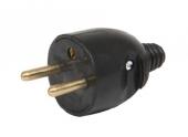 Fiche électrique mâle 2P+T 250 V 16A Noire - Debflex 713280